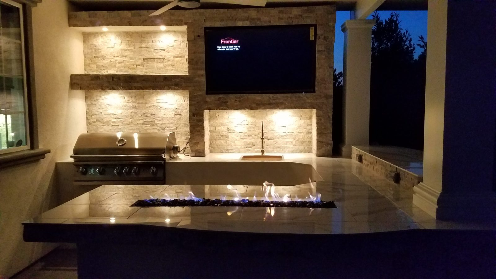 Outdoor Kitchen created by King's Outdoor Creations - Aguanga, California