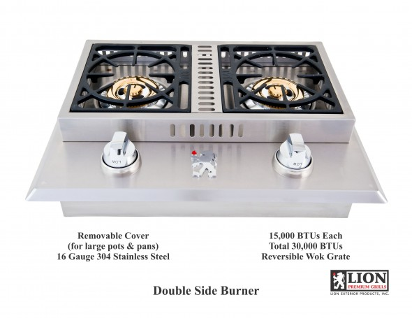 Double Side Burner @ Lion Premium Grills