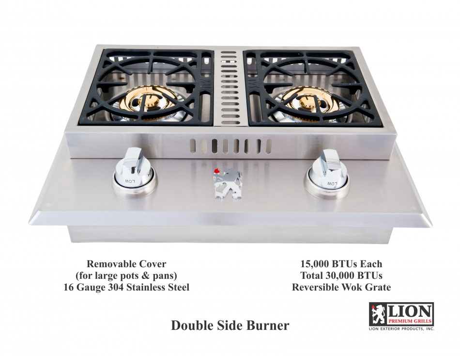 Double Side Burner @ Lion Premium Grills