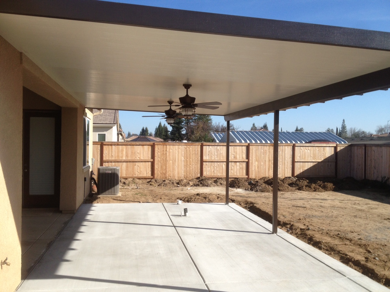 First Off, We Have An Image Of The Backyard Patio Thatu0027s Been Cleared And  Prepared For The BBQ Island And Grill.