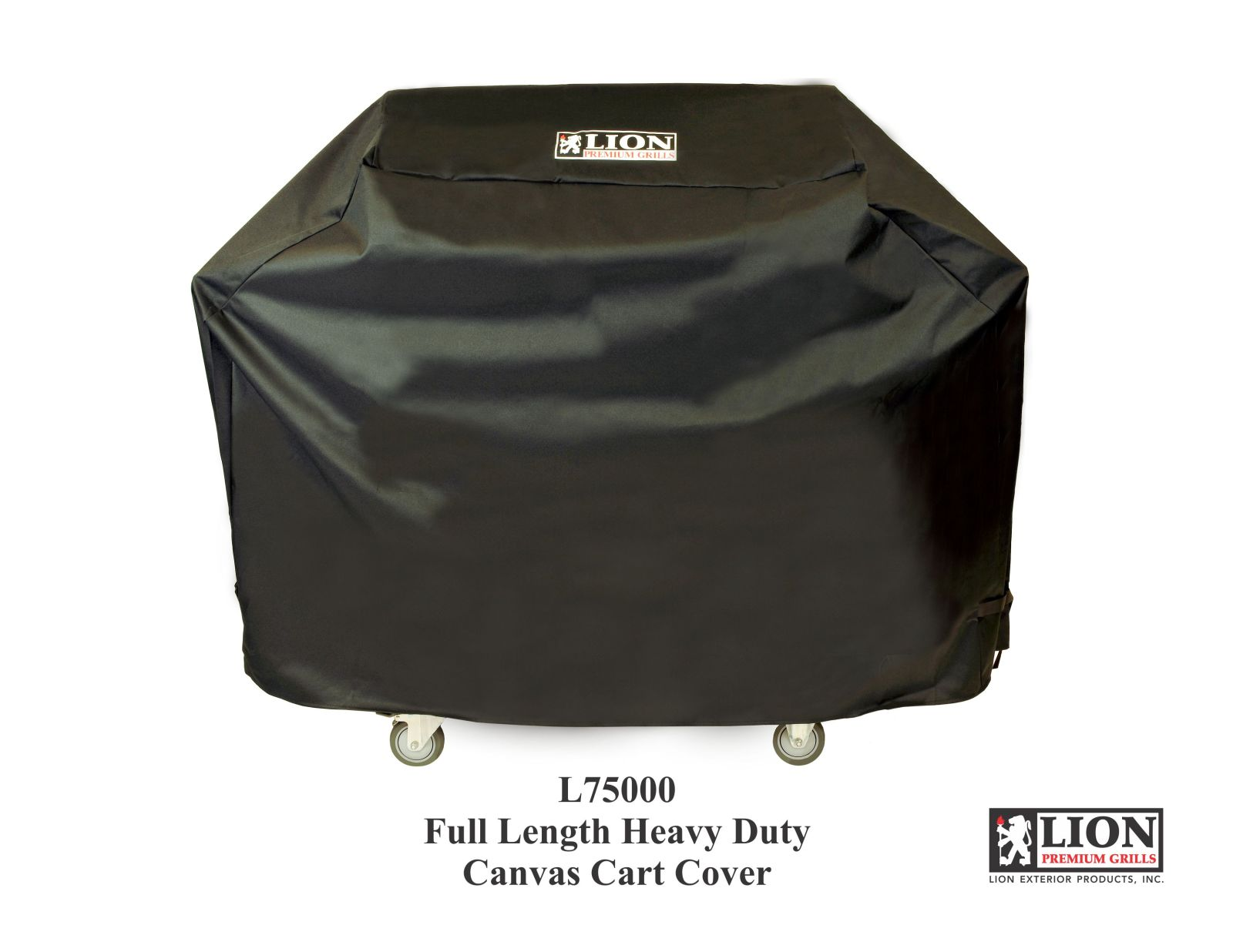Lion Premium Grills Black Full Length Cart Cover For L75000 Grill - CC630547