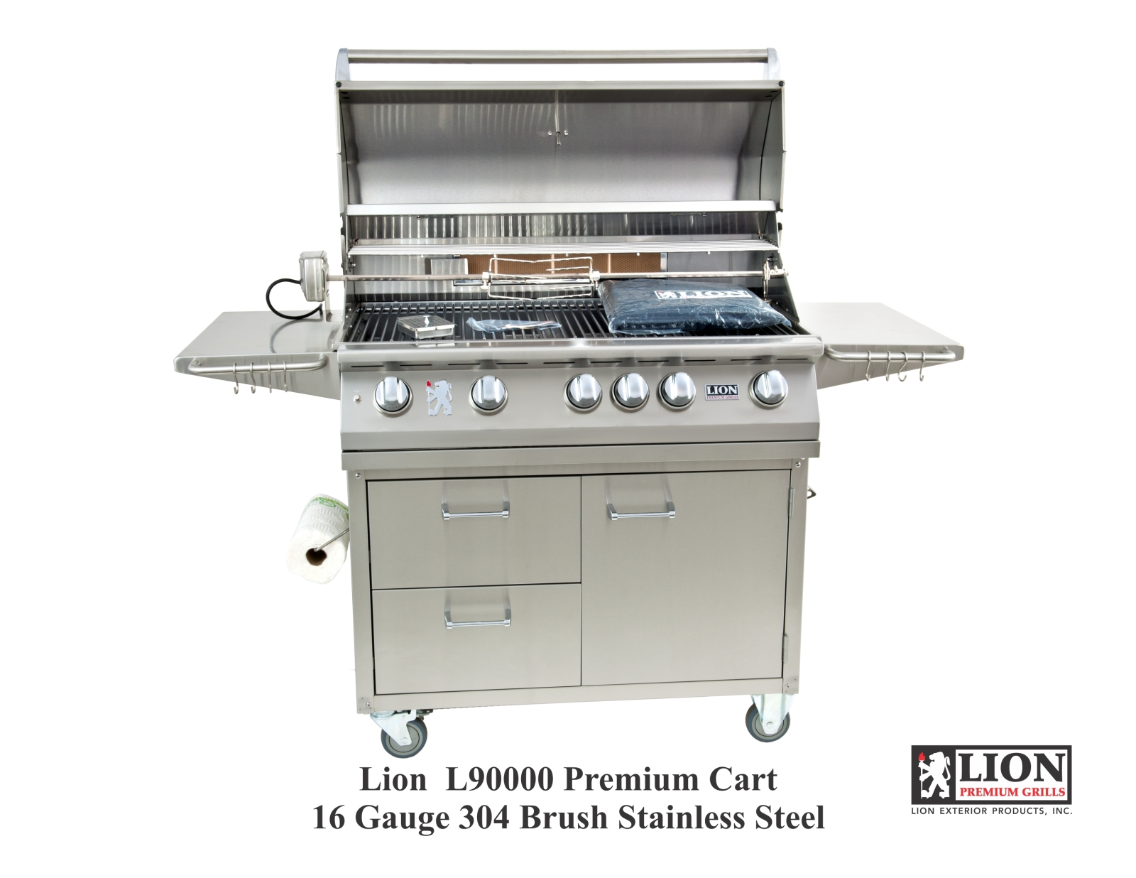 Lion Premium Stainless Steel Cart for L90000 40 Inch BBQ Grill - 53861