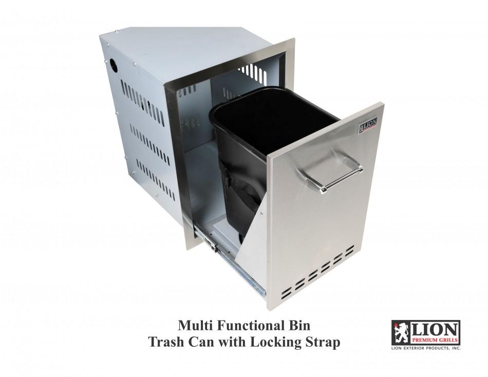 Multi Funct Bin Trash Can