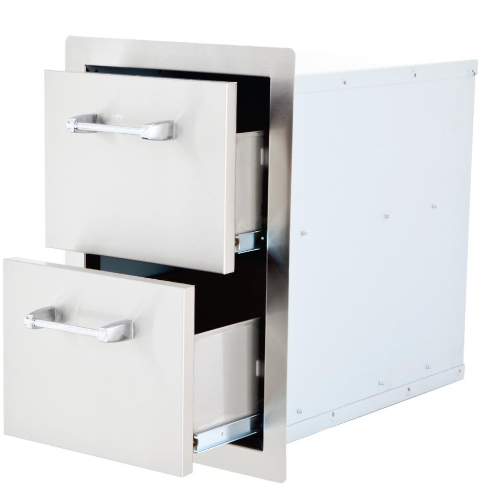 lion premium grills - double drawers