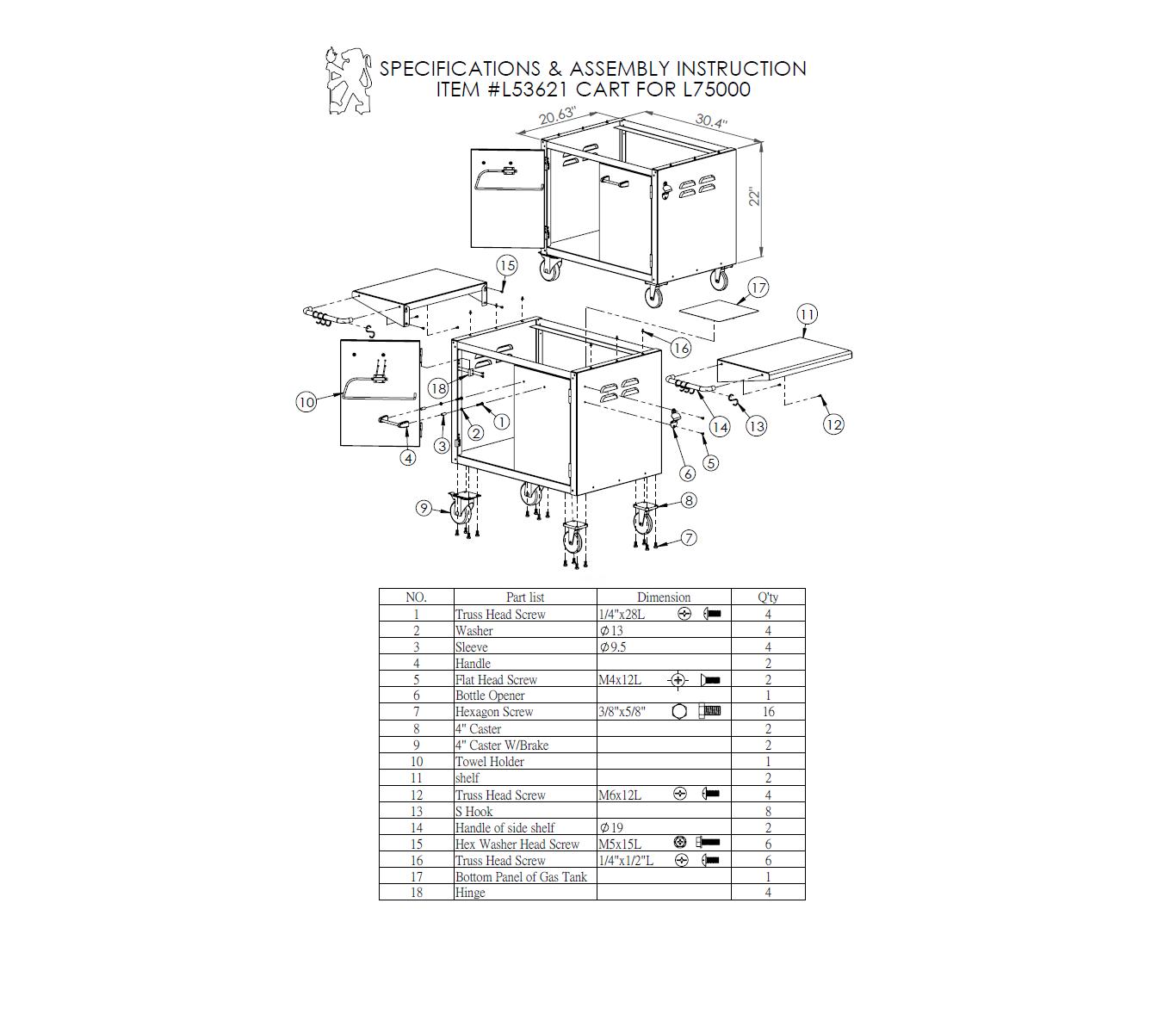jumbuck 2 burner bbq assembly instructions